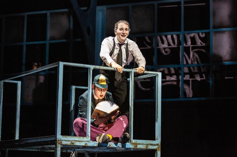 Craig Fairbairn as Young Scrooge and Nick Figgis as Scrooge