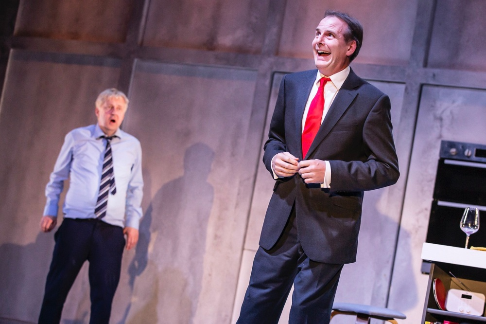 Tim Wallers as Tony Blair in THE LAST TEMPATION OF BORIS JOHNSON. Credit Pamela Raith