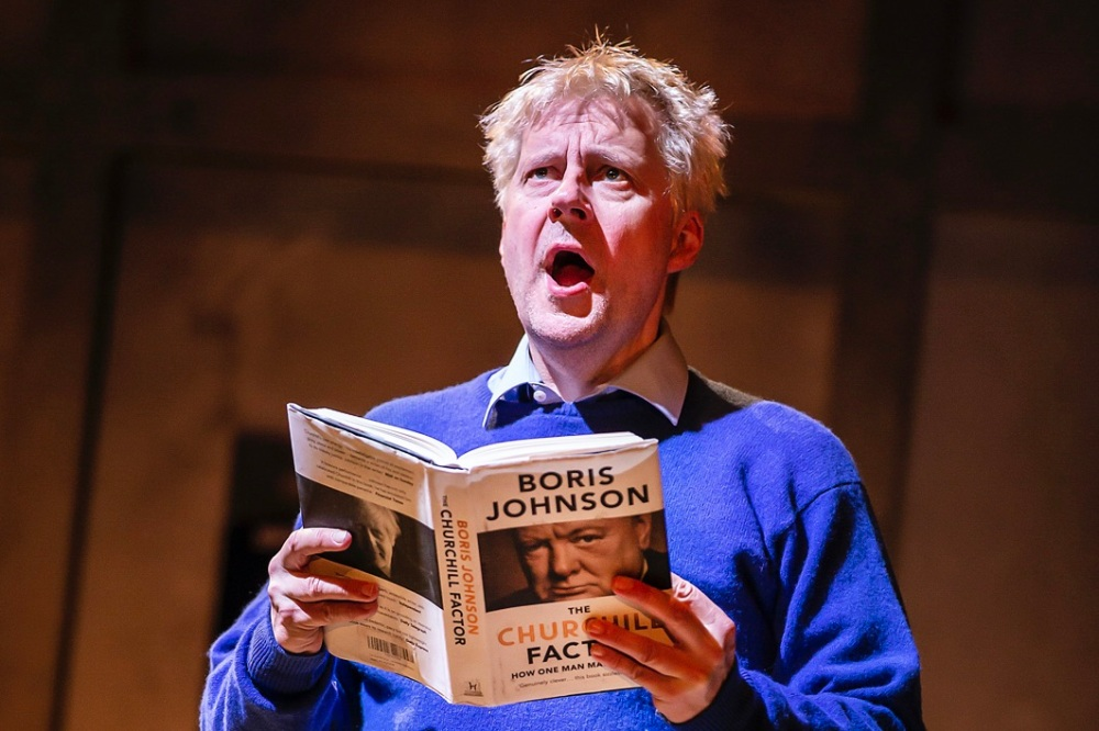 Will Barton as Boris Johnson in THE LAST TEMPTATION OF BORIS JOHNSON. Credit Pamela Raith (2)